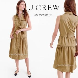 J. Crew NWT military inspired belted midi dress